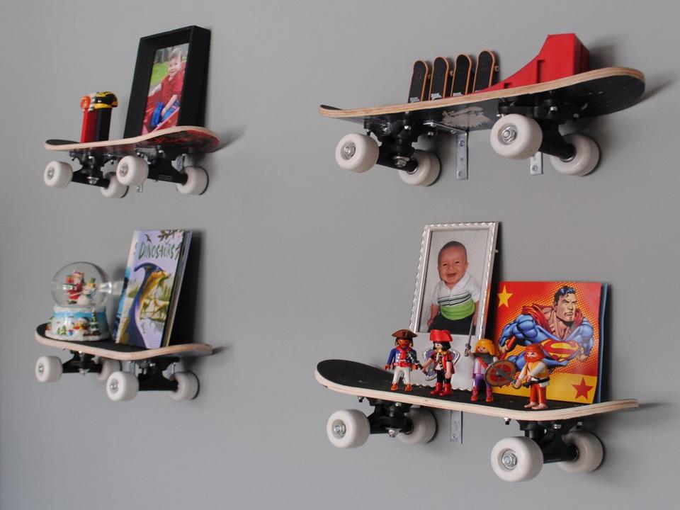 Полки из скейтов