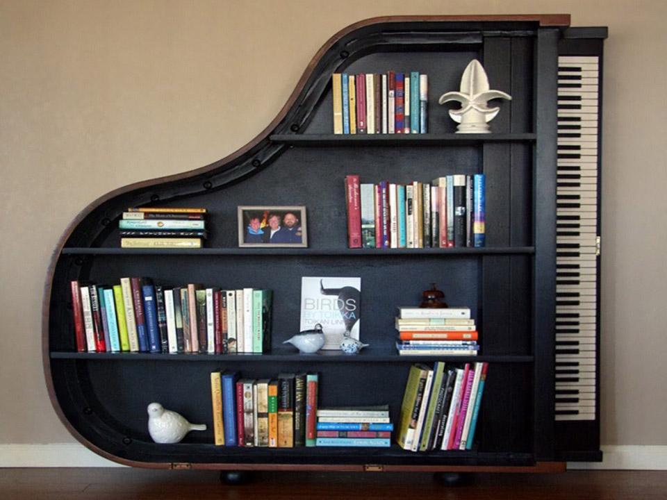 Книжная полка рояль