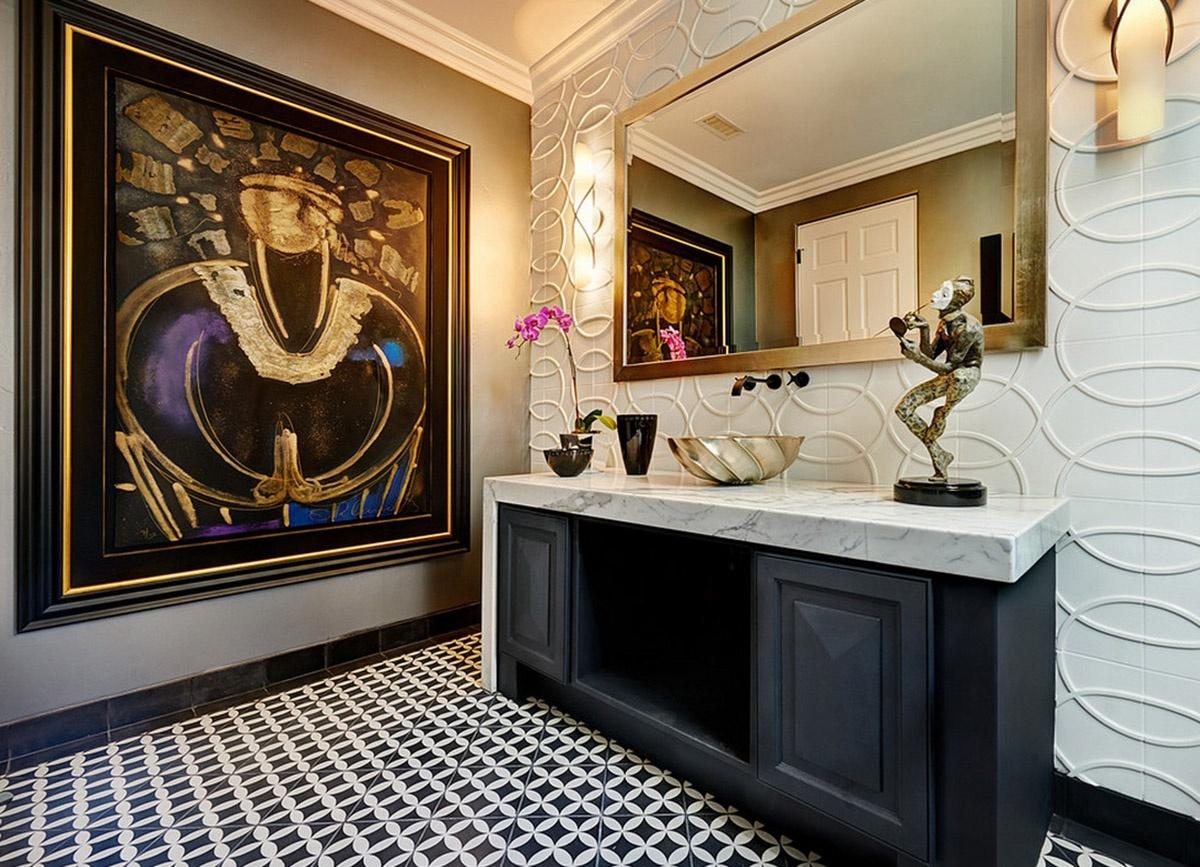 Монохром хорошо работает со многими стилями декорирования