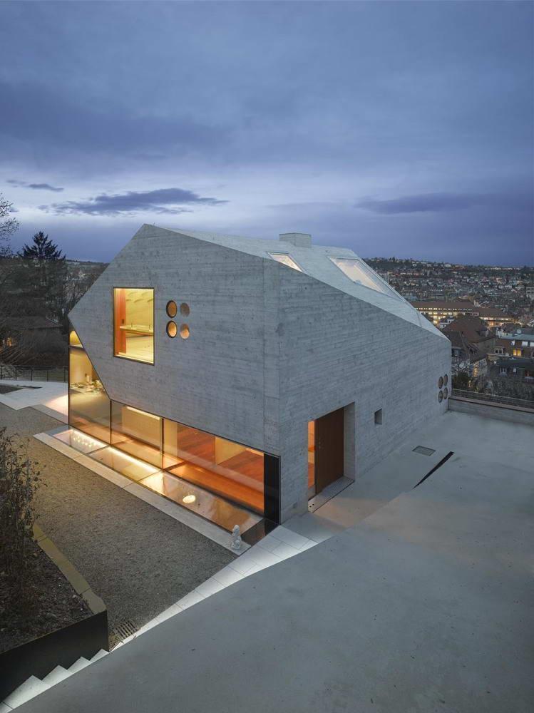 Дом на склоне в Германии от Matthias Bauer Associates