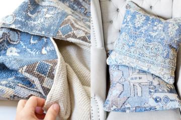 Мастер-класс: диванные подушки из ковриков