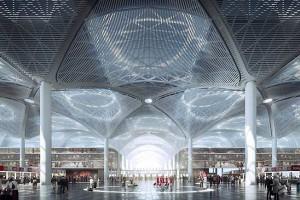 4. Grimshaw Architects, Nordic Office of Architecture, Haptic Architects и Scott Brownrigg: аэропорт Стамбула