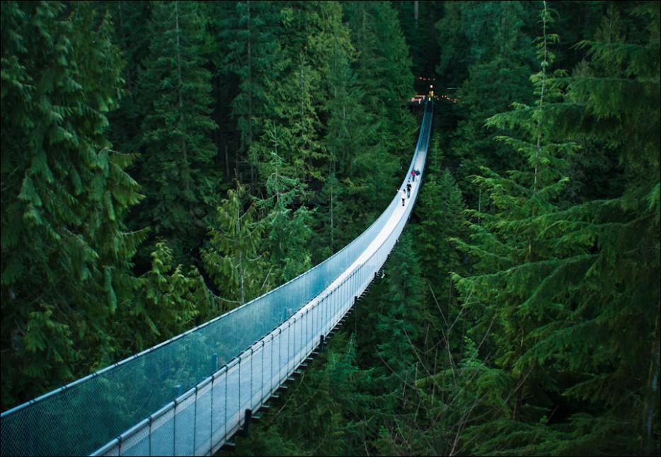 6. Висячий мост Капилано, Ванкувер, Канада