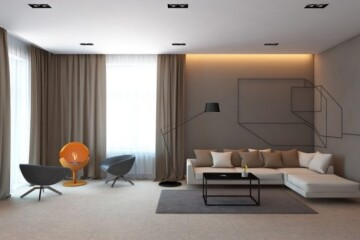 Интерьер в стиле минимализм - гостиной