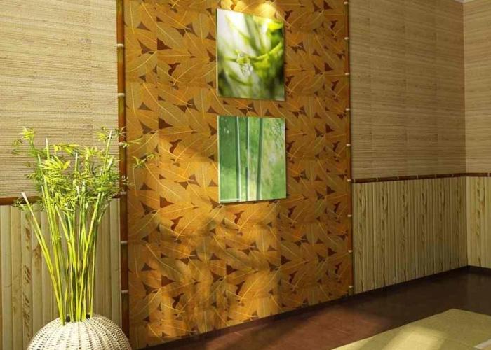 бамбуковые-обои-в-интерьере